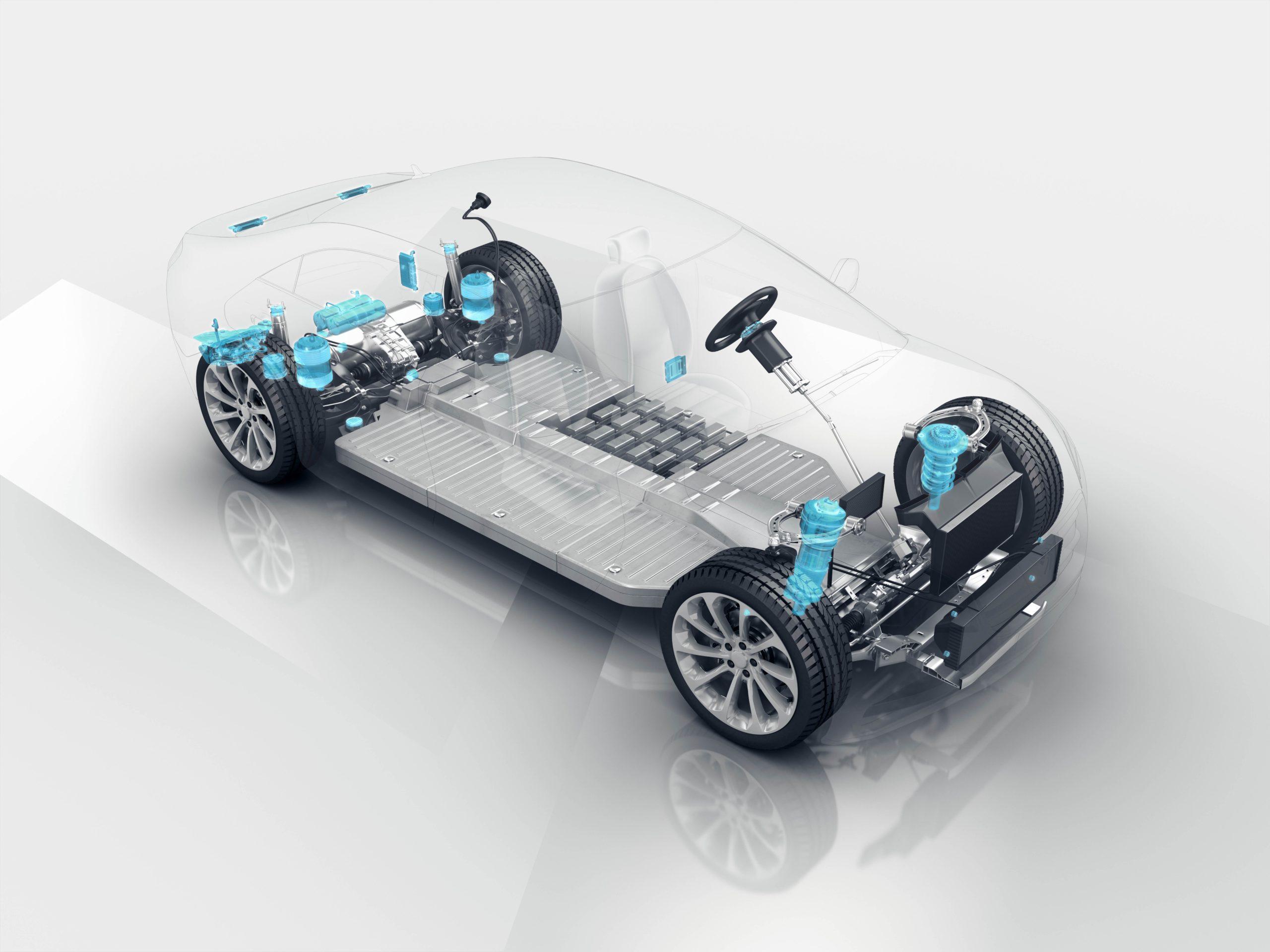 Elektrofahrzeug mit Vibracoustic NVH-Lösungen